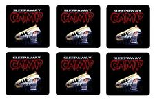 SLEEPAWAY CAMP COASTERS 1/4 BAR & BEER SET OF 6 RETRO MOVIE