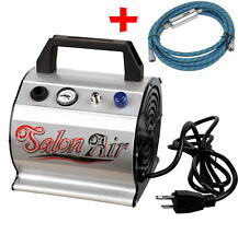 AS176 Airbrush Compressor with Moistured Air Hose From Chronos Free UK Shipping
