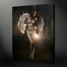 "ANGEL GIRL NUDE EROTIC MODERN PICTURE BOX CANVAS PRINT 20""x30"" FREE UK P&P"
