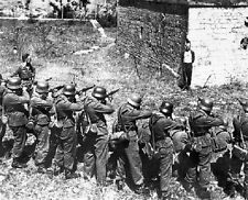 "French Resistance Member smiling at a German Firing Squad 8""x 10"" WWII Photo 319"
