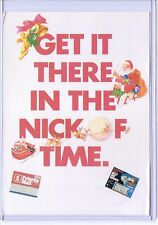 POSTAL SERVICE PRIORITY MAIL GET IT THERE IN NICK OF TIME POSTCARD ADVERTISEMENT