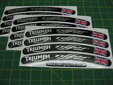 12 Triumph Tiger 1050 v003 Wheel Rim Stickers with the Union Flag