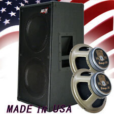 2x12 Vertical Guitar Spkr Cab Bronco Blak tolex W/Celestion Vintage 30 Spkrs