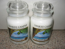 Yankee Candle COCONUT BAY Set of Two (2) Large Jar 22 oz Candles RARE HTF