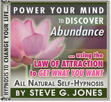 5 cds DR.STEVE G JONES Clinical Hypnotherapist Better Living SELF HYPNOSIS PACK