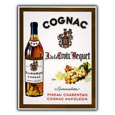Cognac NAPOLEON Metallo Segno Targa Muro Vintage Pubblicità Bar Turno decor print