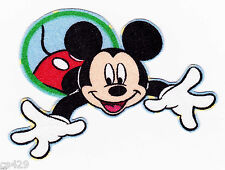 """3"""" DISNEY MICKEY MOUSE IN CIRCLES CHARACTER FABRIC APPLIQUE IRON ON"""