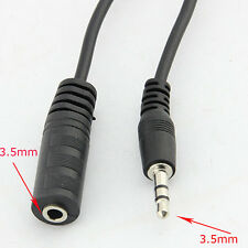 Hot Sale 1.5M Male to Female 3.5mm Audio Stereo Earphone Extension Cable Black