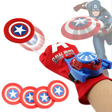 Super Hero Captain America Launchers Gloves Halloween Party Cosplay Toy Kid Gift