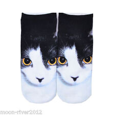 TUXEDO  CAT Trainer SOCKS; UK Shoe Size 3-7, 1 pair KITTEN 3D Digital Photo Sox