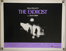 THE EXORCIST ROLLED ORIG HALF-SHEET MOVIE POSTER LINDA BLAIR MAX VON SYDOW(1974)
