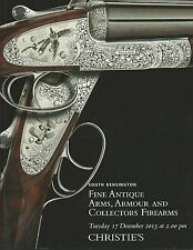 CHRISTIES Antique Arms Armour Sword Gun Pistol Gilardi Coll Auction Catalog 2013