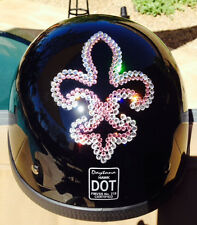 Bling Motorcycle Helmet made with Swarovski® Crystal Design-Black DOT-DD40*