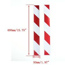 10pcs 40cm Red White Car Reflector Sticker Collision Avoidance Warning Truck