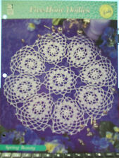 SPRING BEAUTY FIVE HOUR DOILIES CROCHET PATTERN HOUSE OF WHITE BIRCHES DOILY