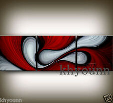 3 pieces Large Modern Abstract Art Oil Painting Wall Decor canvas NO frame