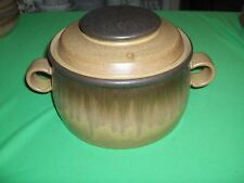 Vintage 2 Pc Casserole 2.5 Qrt Denby-Langley China Pottery Romany-Brown NICE