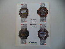 advertising Pubblicità 1989 CASIO BM-100 W/DGW-30 DIGI GRAPH/ARW-320/CGW-50