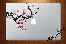 Macbook Air Pro Skin Sticker Decal - Sakura Cherry Blossom Paint Art #CMAC062