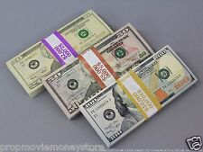 PROP MONEY New Style $17,000 Blank Filler Bundles For Movie, TV, Videos, Novelty