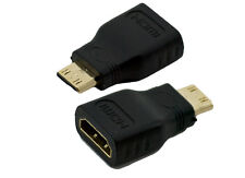 Brand New HDMI Female to Mini HDMI Type C Male Adapter Convertor in Gold Plated