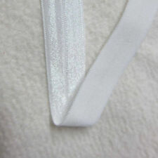 "1 ROLL 100 YDS WHITE FOE Fold Over Elastic trim 5/8"" for Hair Ties Baby Headband"
