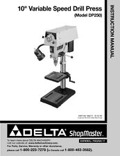 """Delta Shopmaster DP250 10"""" Variable Speed Drill Press Instruction Manual"""