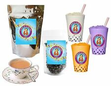 10+ Drinks Milk Tea Boba Tea Kit: Tea Powder, Tapioca Pearls & Straws