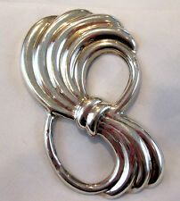 Bundle of Wheat Country living Large Sterling Silver Brooch Taxco Region signed