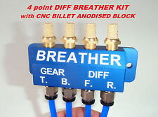 DIFF BREATHER KIT - CNC Billet Anodised Block hilux Nissan
