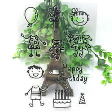Birthday Silicone Rubber Clear Stamp Diary Christmas Card Seal Scrapbooking A72