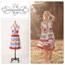Anthropologie Floreat Chromatic Canvas Shirtdress, size US 6, AUS 10-12, used
