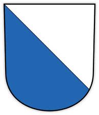 Zurich Zurich Wappen città Switzerland stemma etichetta sticker 10cm x 12cm
