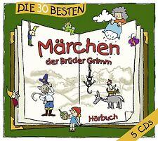 Die 30 besten Märchen der Brüder Grimm   5 CD HÖRBUCH   - Neu & eingeschweisst!!