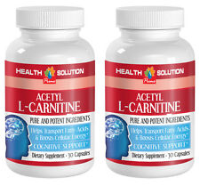 Acetyl L-Carnitine Transports Fatty Acids and Boosts Cellular Energy (2 Bottles)