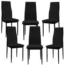 [en.casa] Chaise de salle à manger noir 6er Set Salon À cuisine