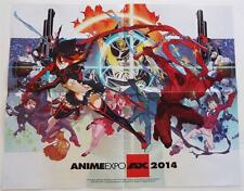 """NEW 2014  Anime Expo  EXCLUSIVE LIMITED EDTION ARTWORK  Poster 16"""" x 20"""" Folded"""