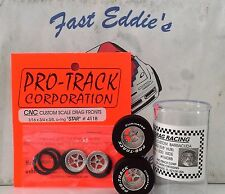 Silver Set of  True Drag Star Tires By Pro Track 1 1/16 x.500
