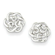 925 Sterling Silver Solid Polished Celtic Knot Post Earrings