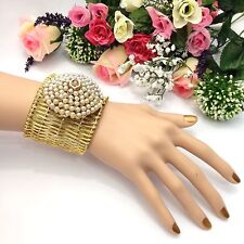 Asian Bridal Polki Cuff Bracelet Bangle Indian Party Wear Bollywood Jewellery
