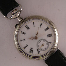 Early Fully Serviced Cylindre'1900 Antique French Gent's Wrist Watch Perfect