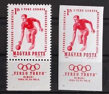 HUNGARY 1964, $240, Perf+Imperf MNH, Olympics, Bowl, Jeux-Olympiques, Sport