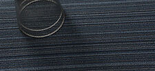 "Chilewich Shag Skinny Stripe Vinyl Rug Indoor/Outdoor Big Mat Blue 36"" X 60"""