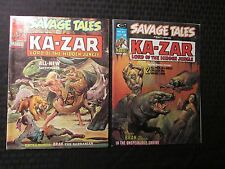 1974 SAVAGE TALES Ka-Zar Magazine LOT of 2 #6 VF- 7 VF- Neal Adams