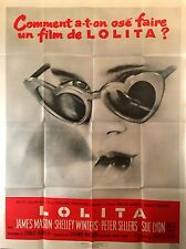 """LOLITA ORIGINAL FRENCH RE-ISSUE MOVIE POSTER 1990'S 63"""" X 47"""" FOLDED/UNUSED"""