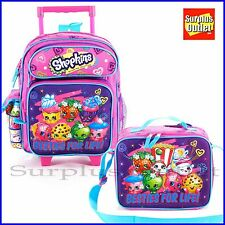 Shopkins Backpack 12'' Rolling School Backpack Lunch Bag 2pc Set