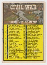 1962 TOPPS CIVIL WAR NEWS CARD #88 CHECKLIST
