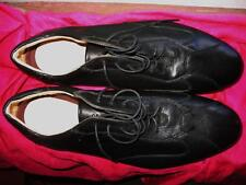 BATA AIR  MEN SHOES BLACK LEATHER LACE UP OXFORDS  !SIZE 10 M /43! MADE IN ITALY