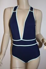 NWT Chloe Deep V Navy One Piece Swimsuit~Size Small/42~Sold Out!