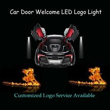 Flaming Running Horse Logo Car Door Projector Shadow LED Light for Ford Mustang